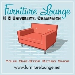 furniture lounge orange couch ad