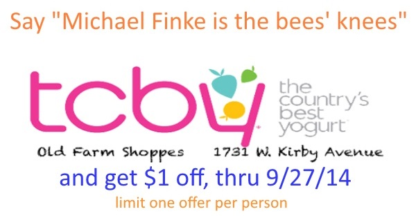 Finke TCBY coupon