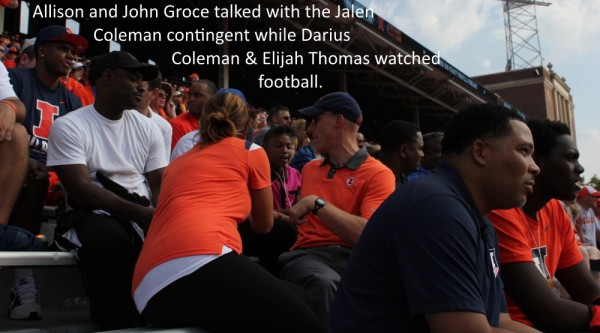 John Groce talks to Jalen Coleman