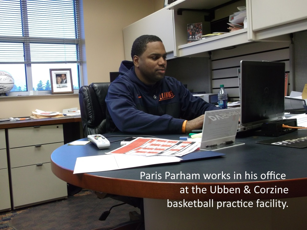 Paris Parham in his office