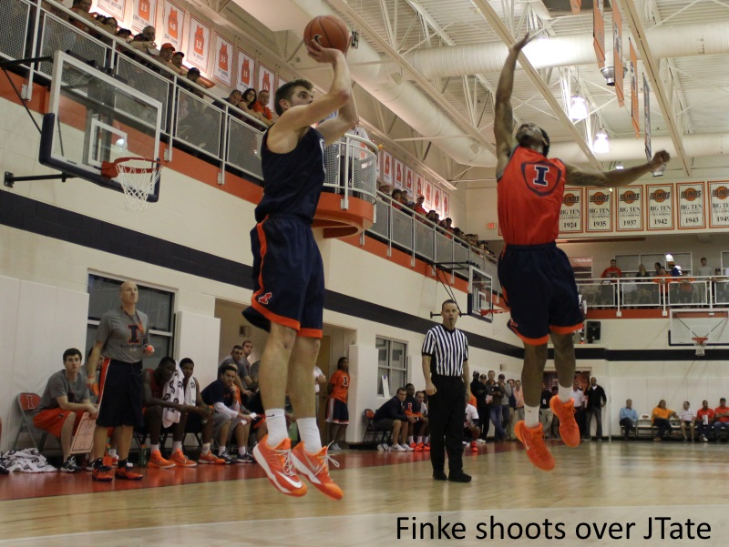 Finke shoots over JTate