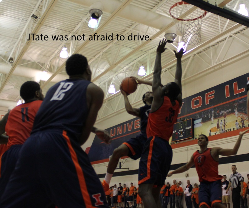 JTate was not afraid to drive