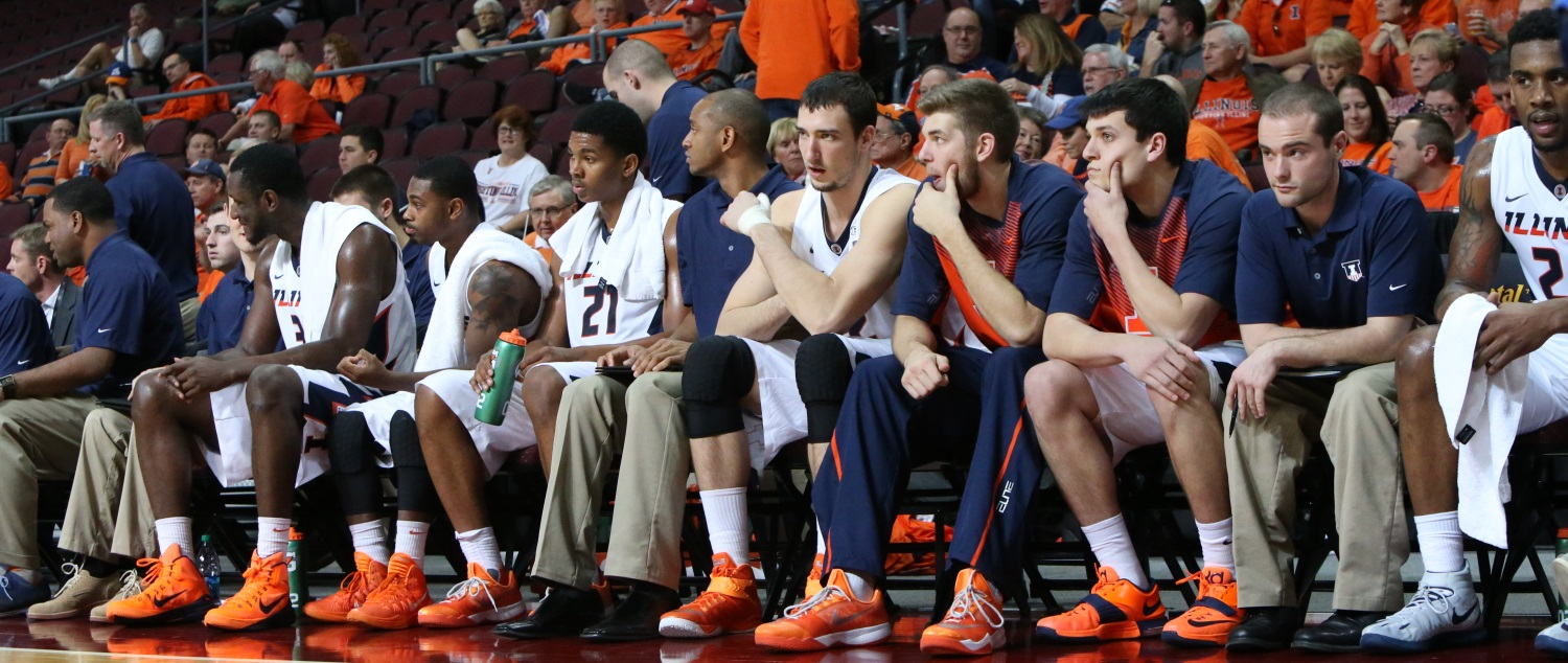 Illini bench at Las Vegas Invitational