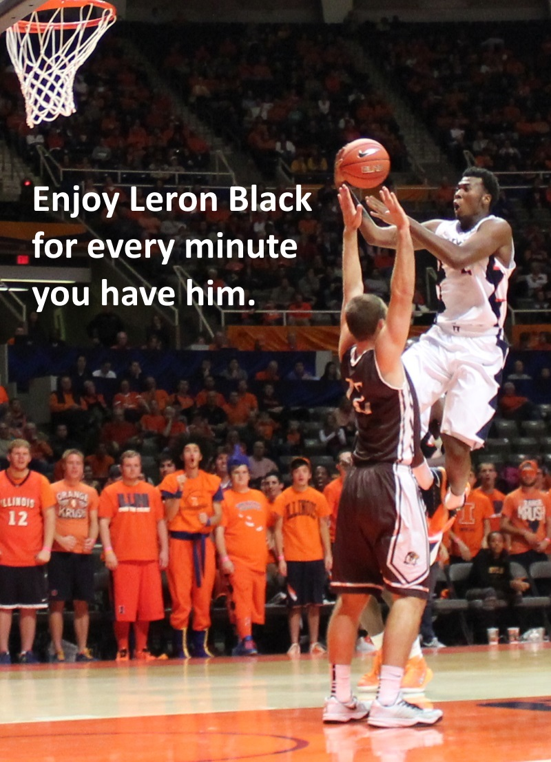 Leron Black elevates for a shot against Quincy