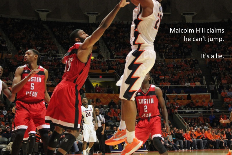 Malcolm Hill cant jump its a lie