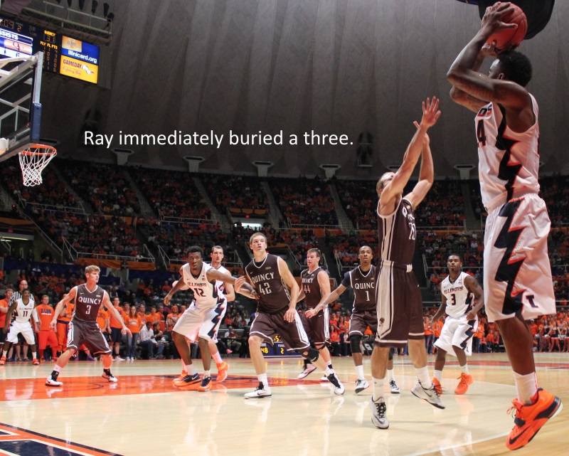 Rayvonte Rice immediately buried a three