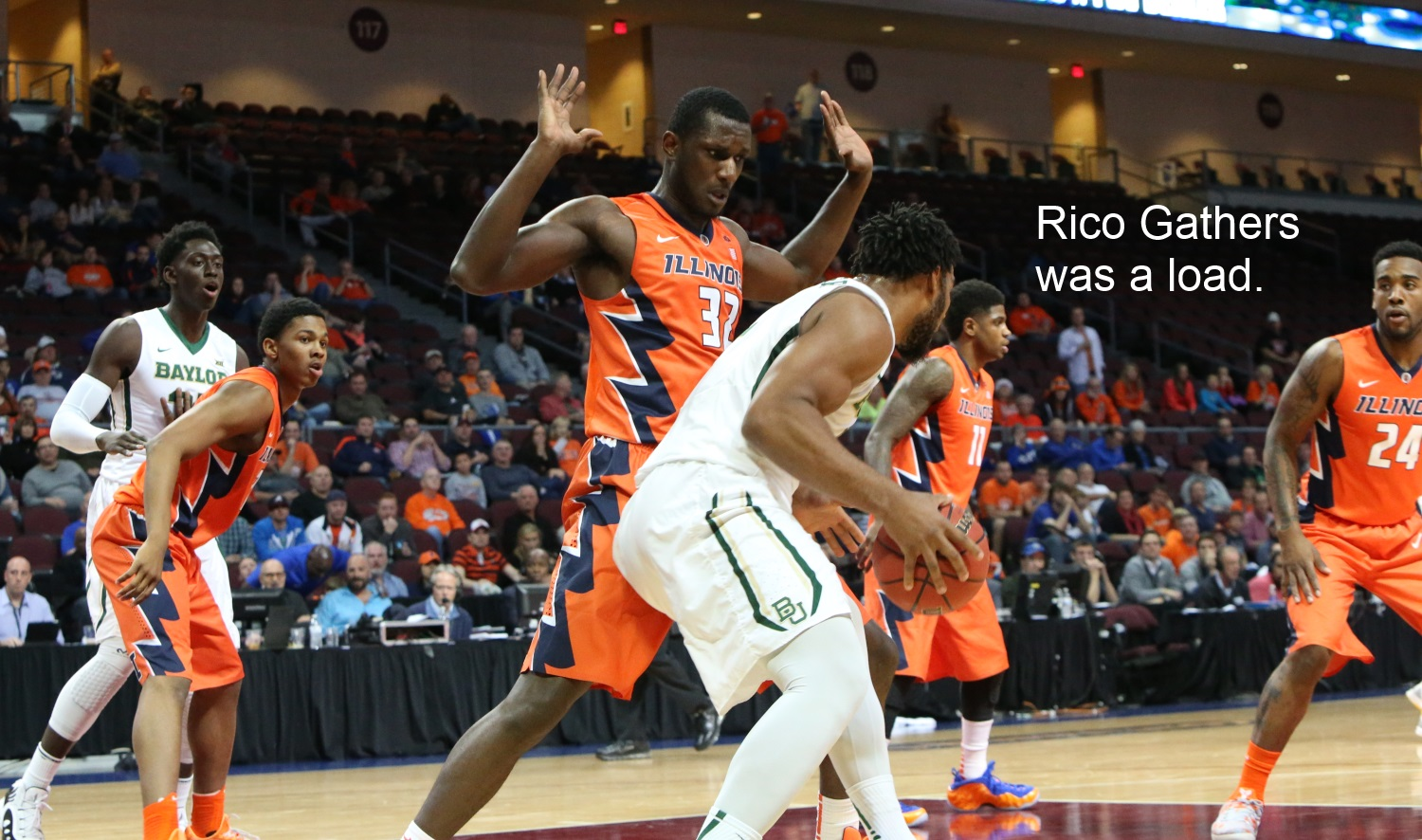 Rico Gathers was a load