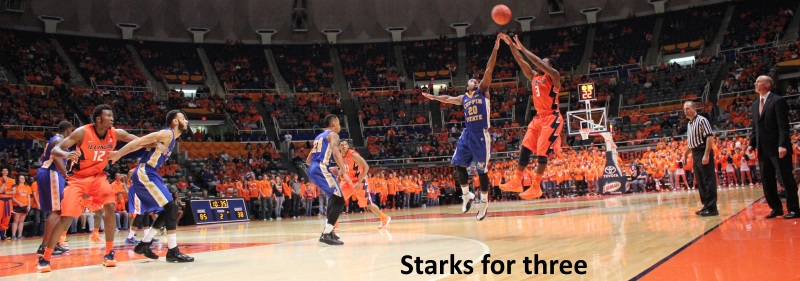 Starks for three