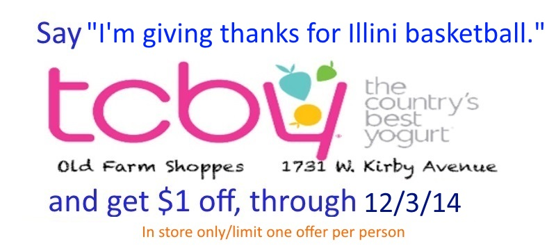 TCBY thanksgiving