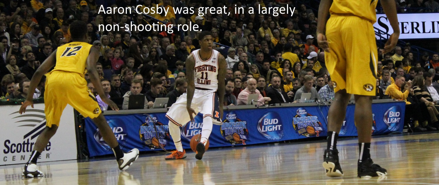 Aaron Cosby was great non-shooting role