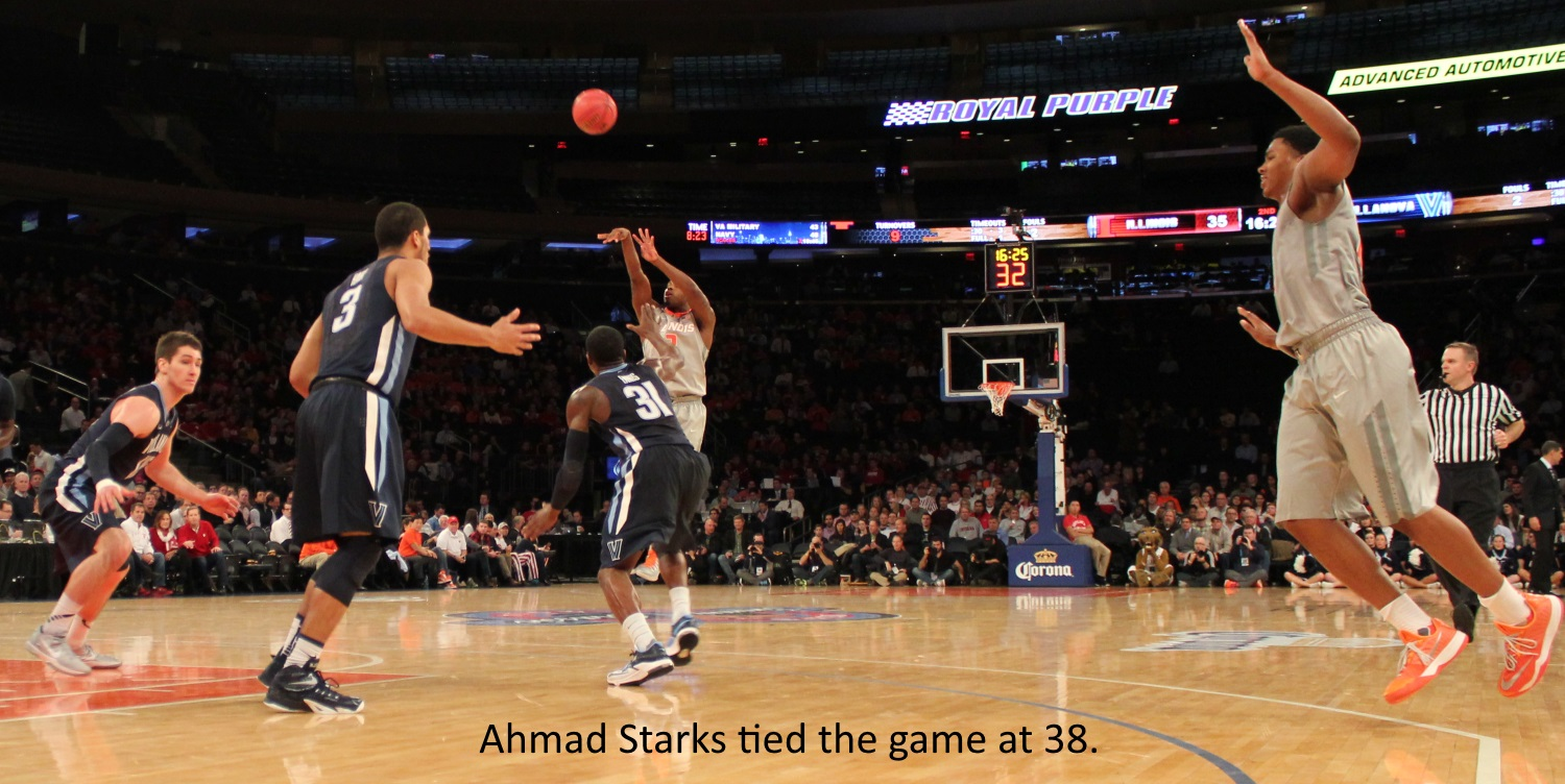 Ahmad Starks tied the game at 38