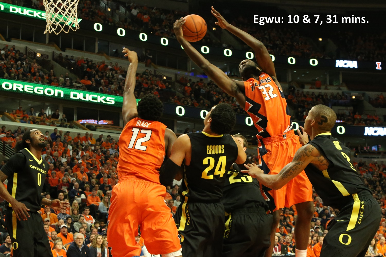 Egwu 10 and 7 versus Oregon