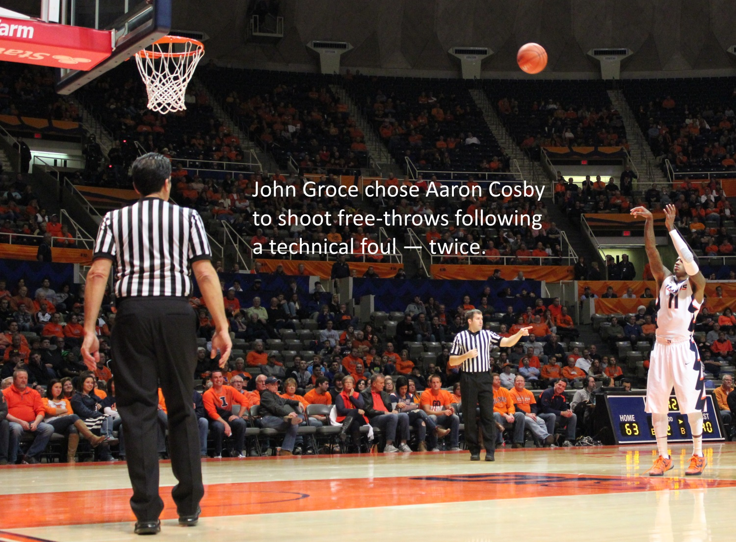 John Groce chose Aaron cosby to shoot free throws