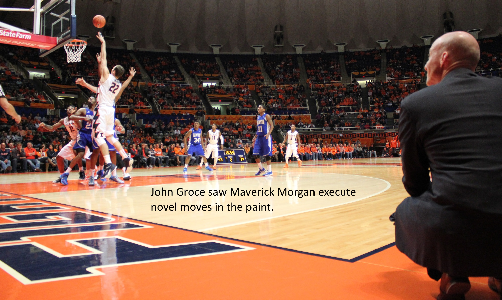 John Groce watches Maverick Morgan