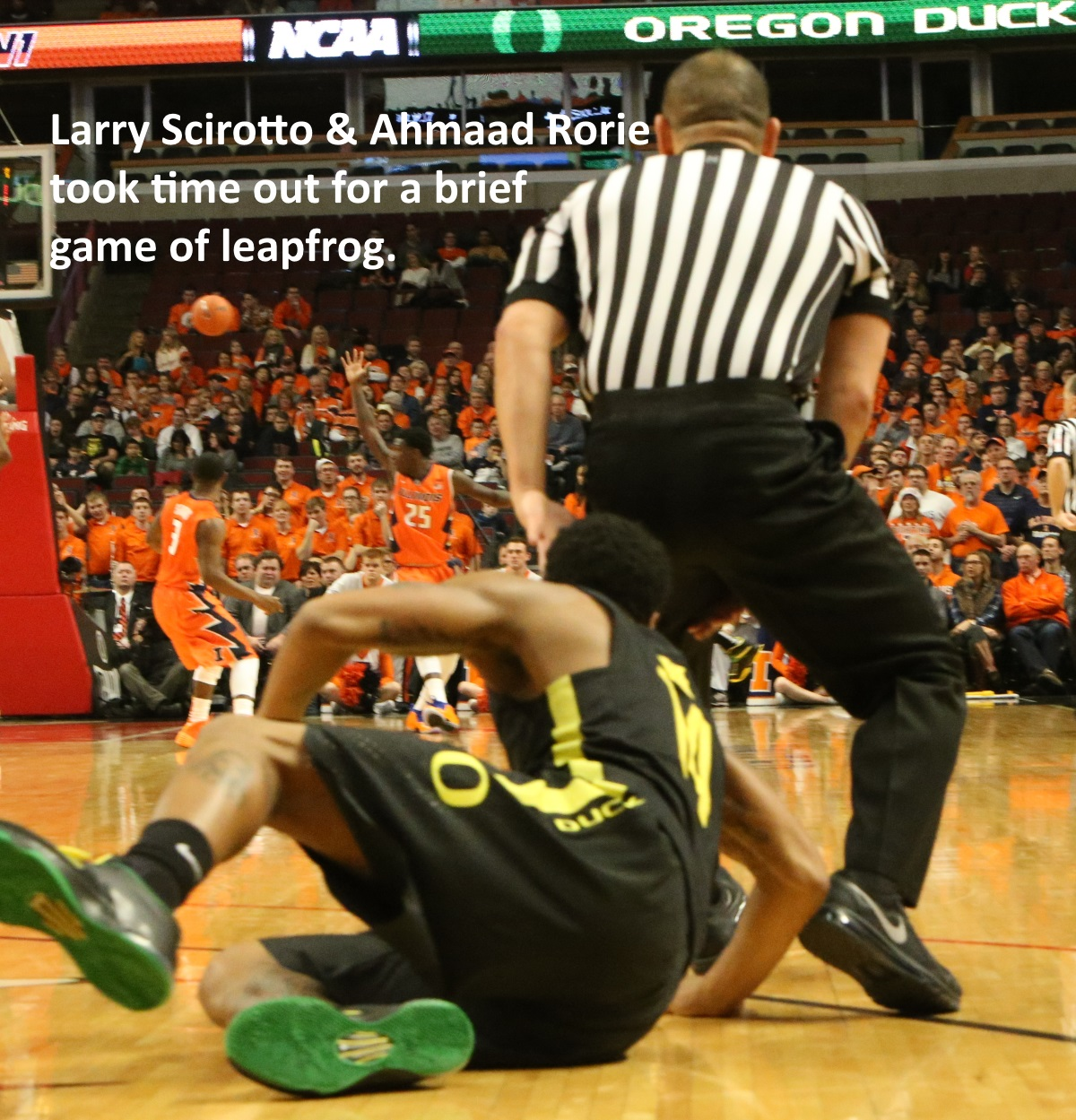 Larry Scirotto and Ahmaad Rorie leapfrog