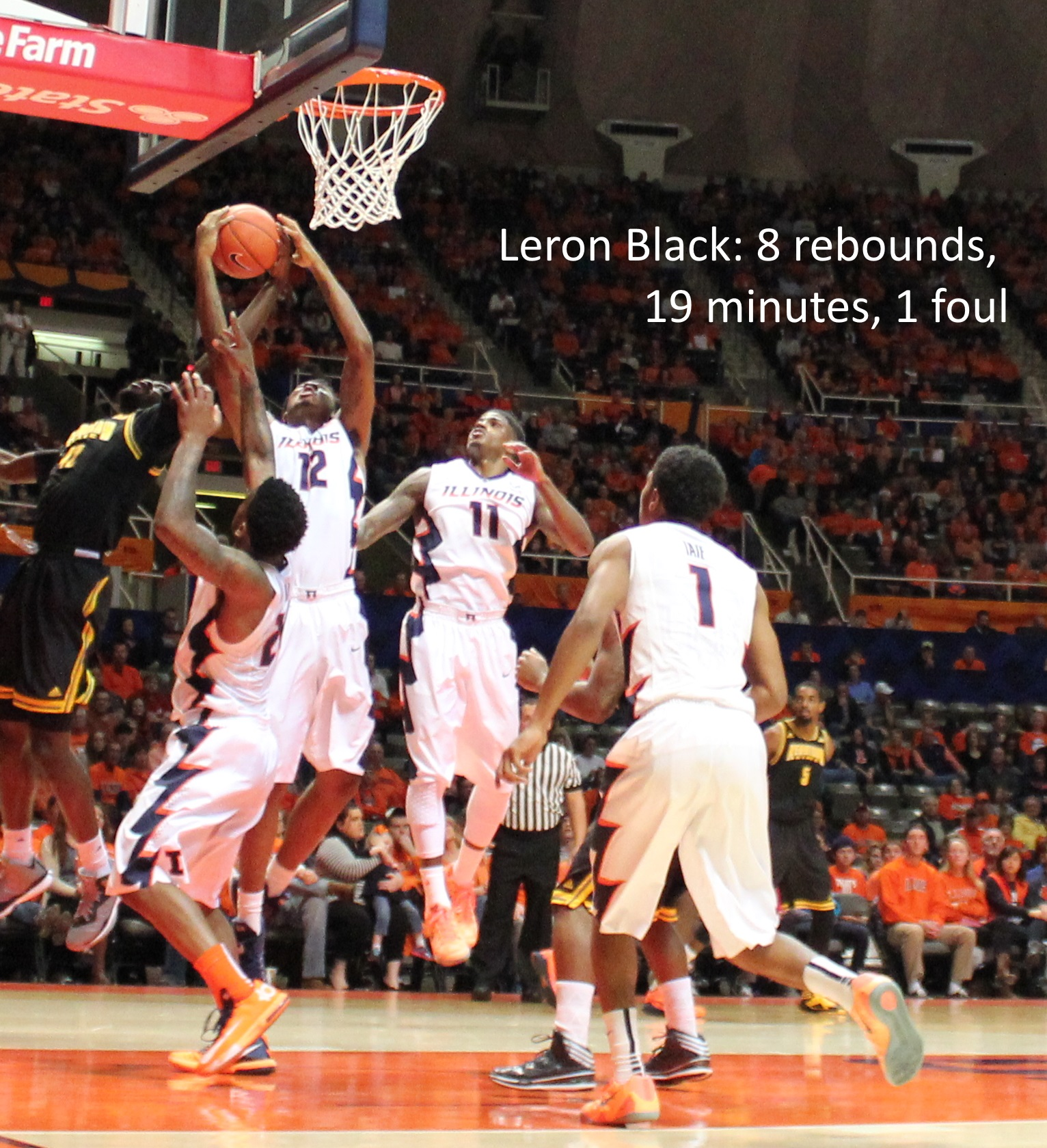 Leron Black - 8 rebounds - 1 foul