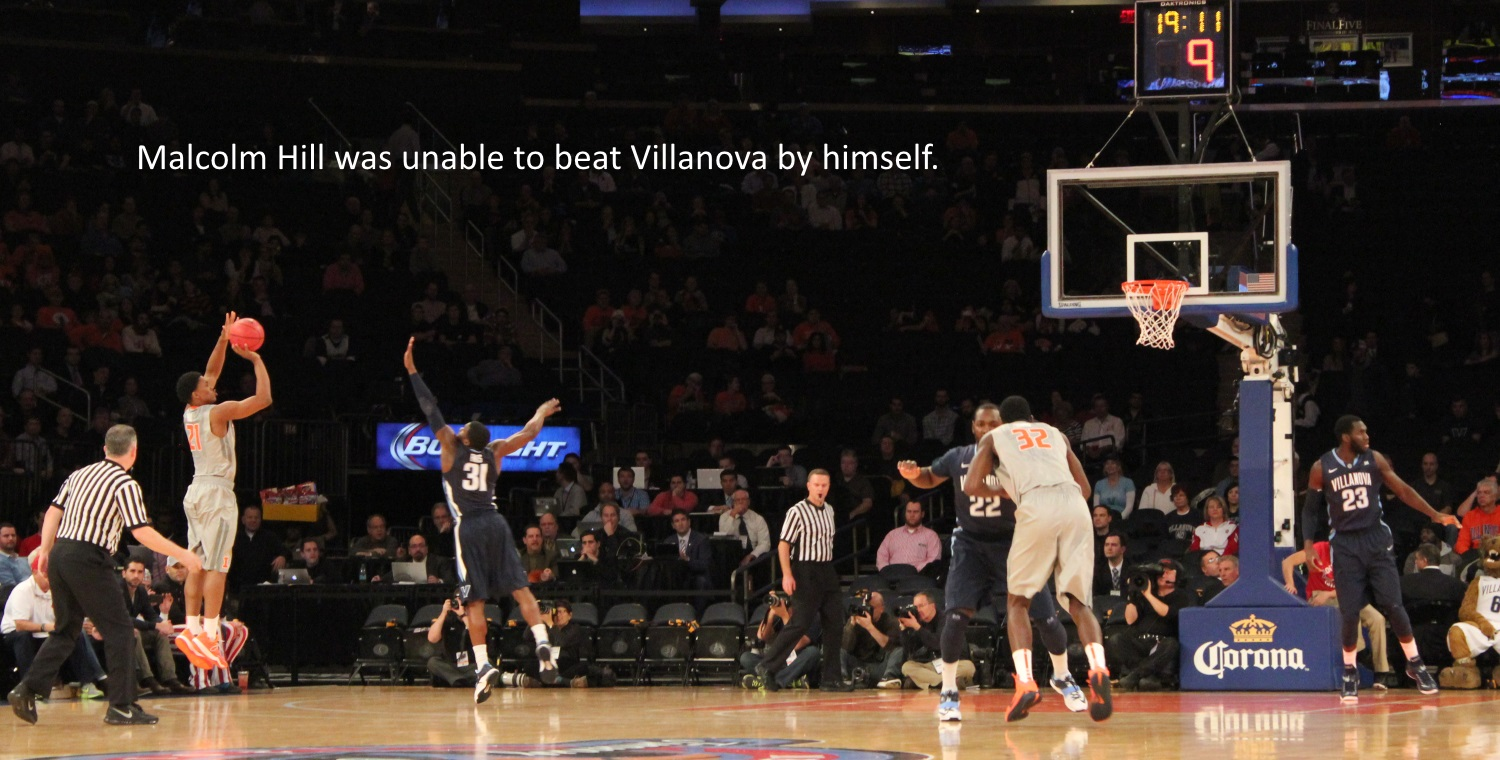 Malcolm Hill was unable to beat Villanova by himself