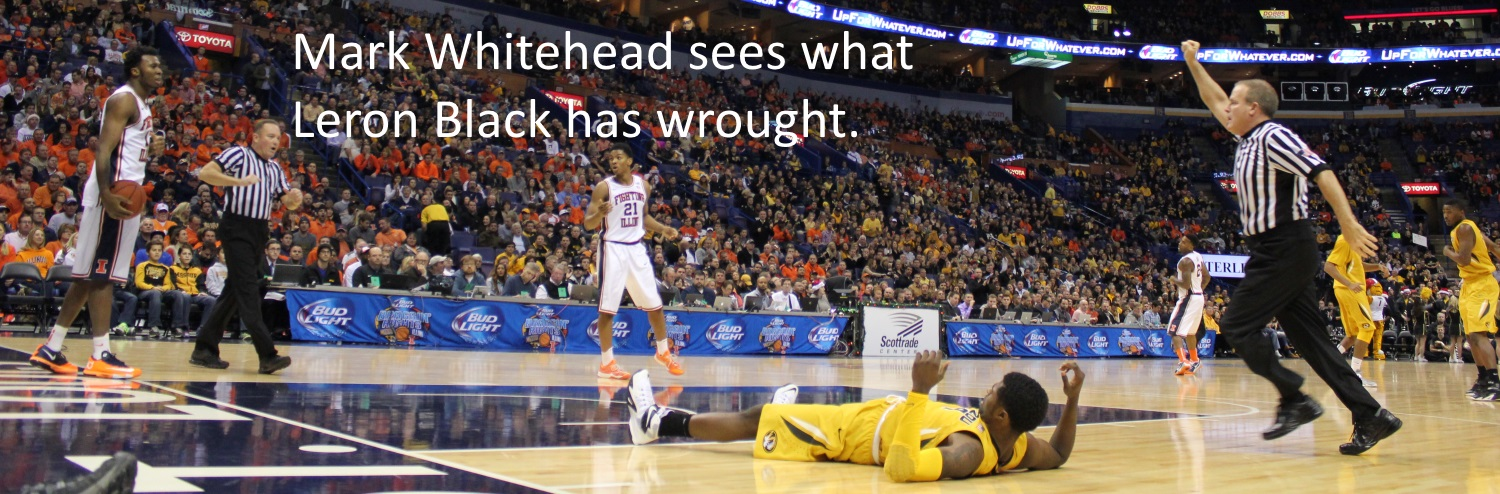 Mark Whitehead sees Leron Black wrought