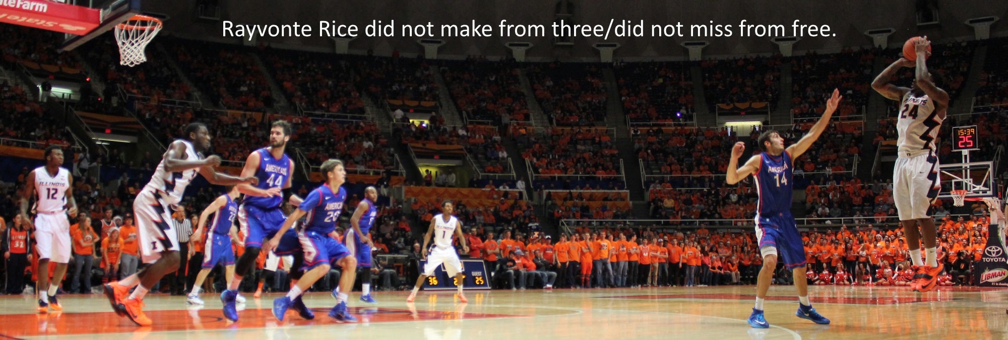 Rayvonte Rice did not make from three did not miss from free