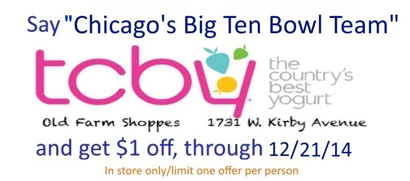 TCBY-big ten bowl team