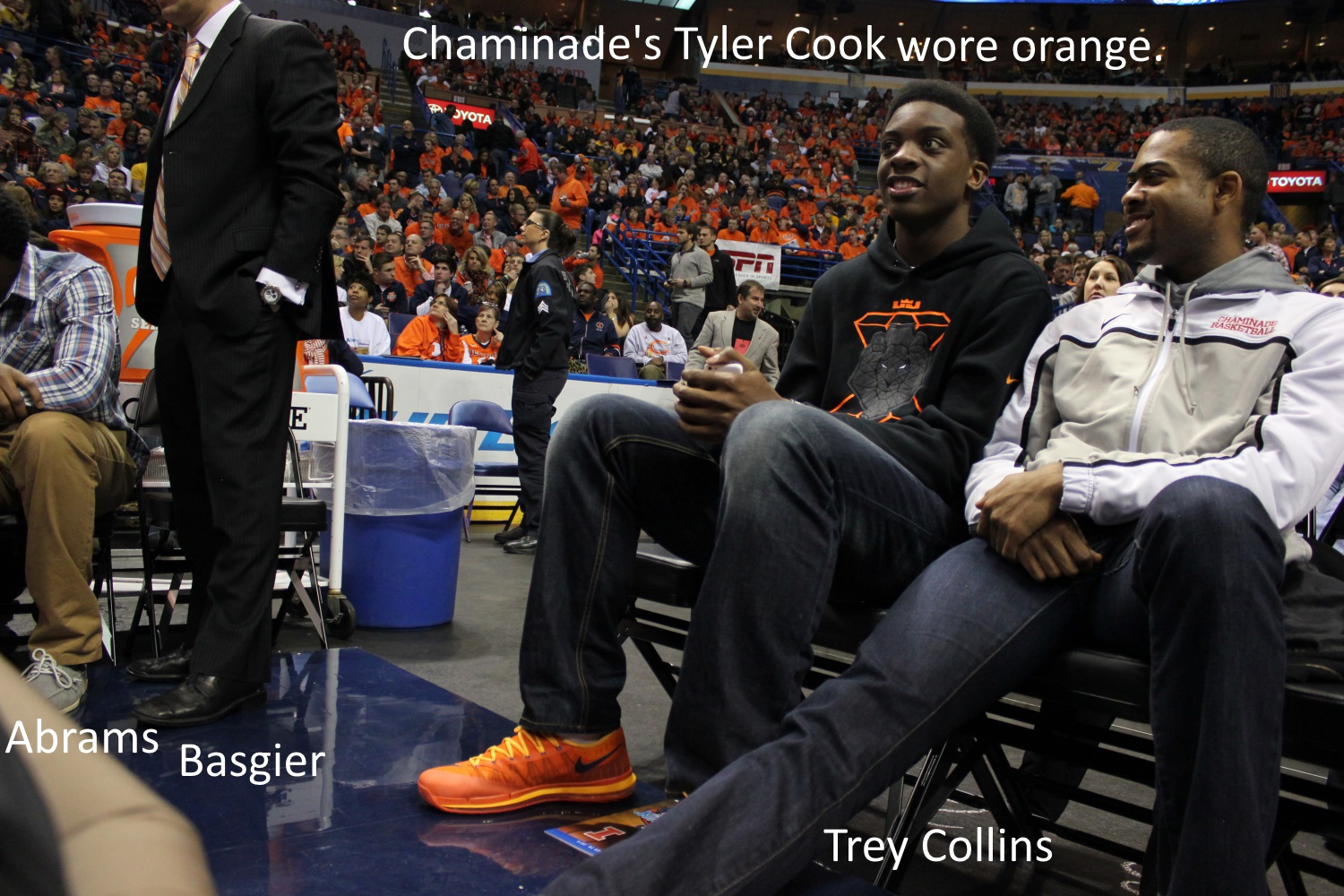 Tyler Cook wore orange to Braggin Rights game