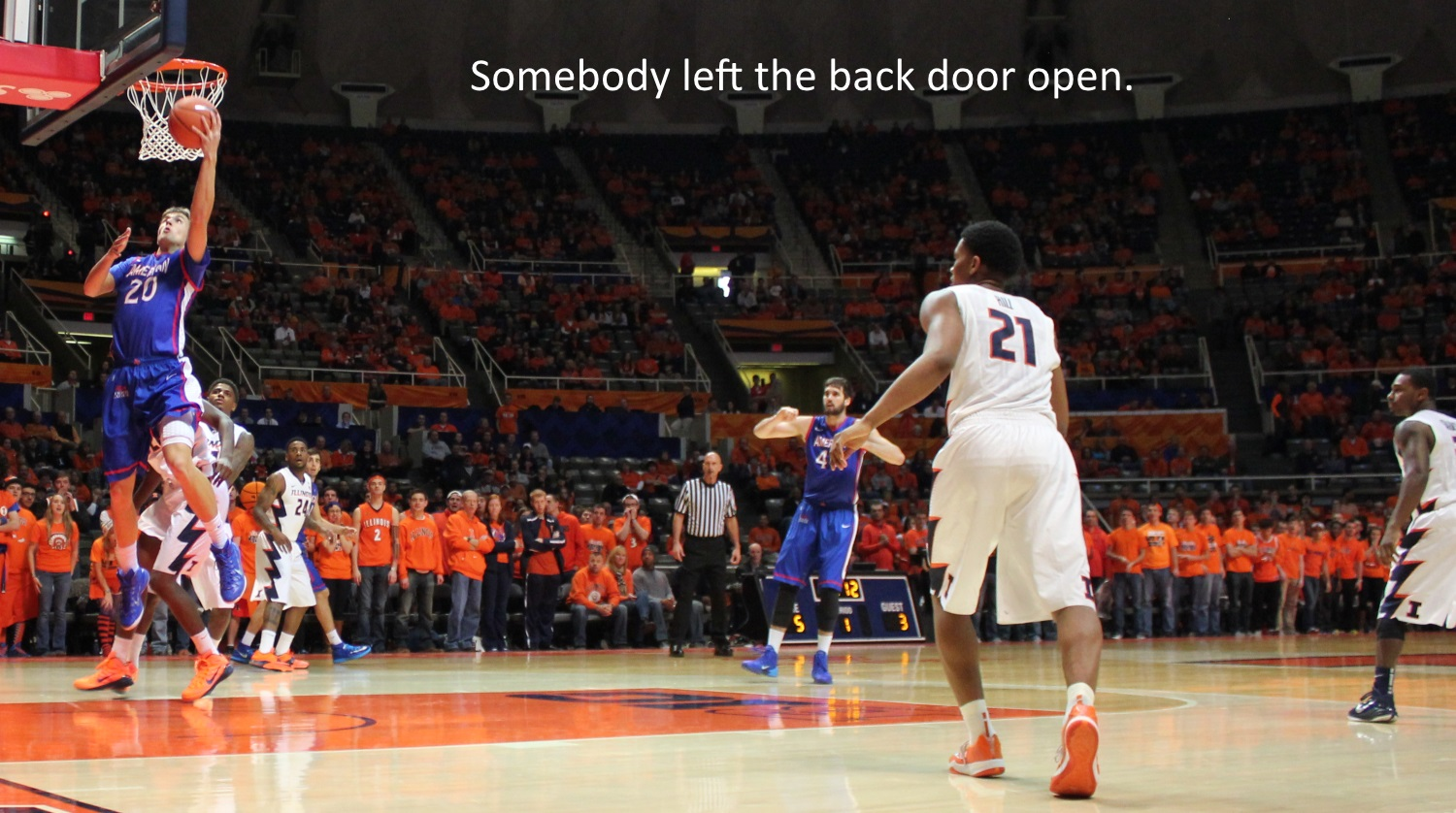 somebody left the backdoor open Illini American U