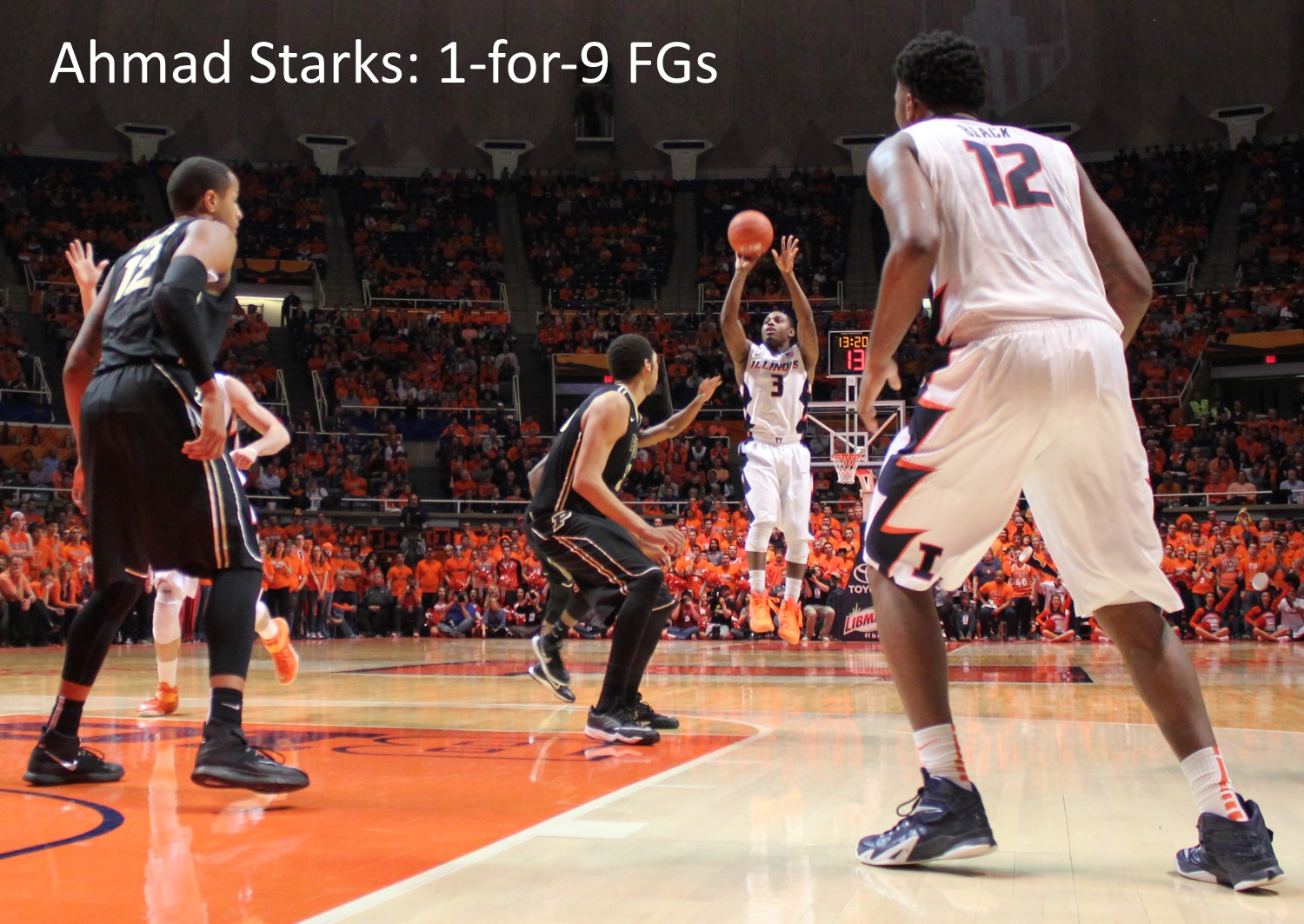 Ahmad Starks 1-for-9