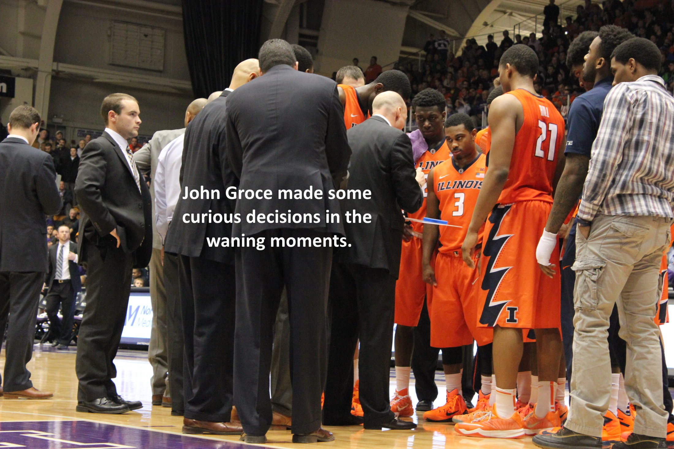 John Groce curious decisions waning moments