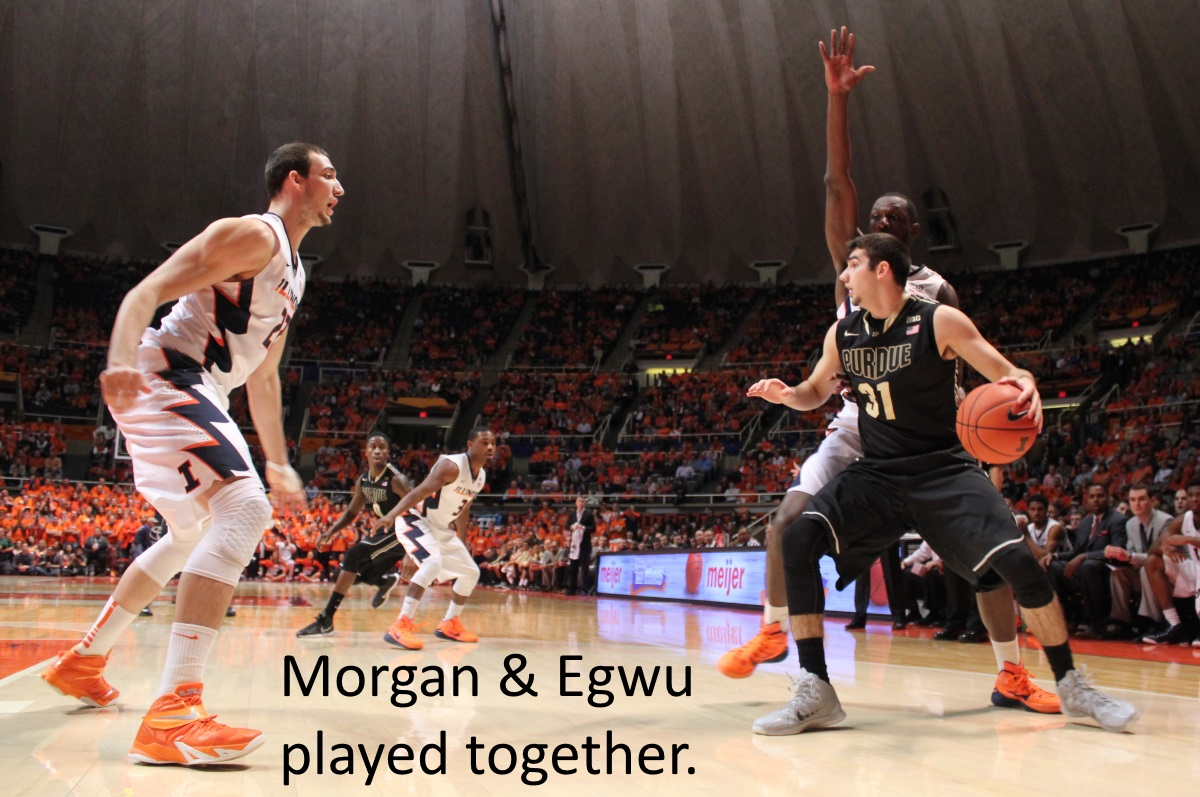 Morgan and Egwu played together