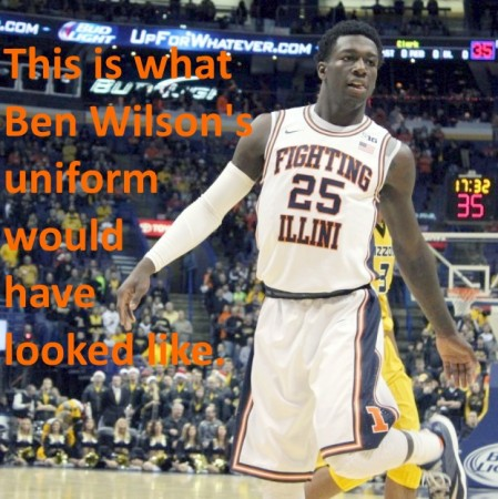 Ben Wilson - Illini uniform