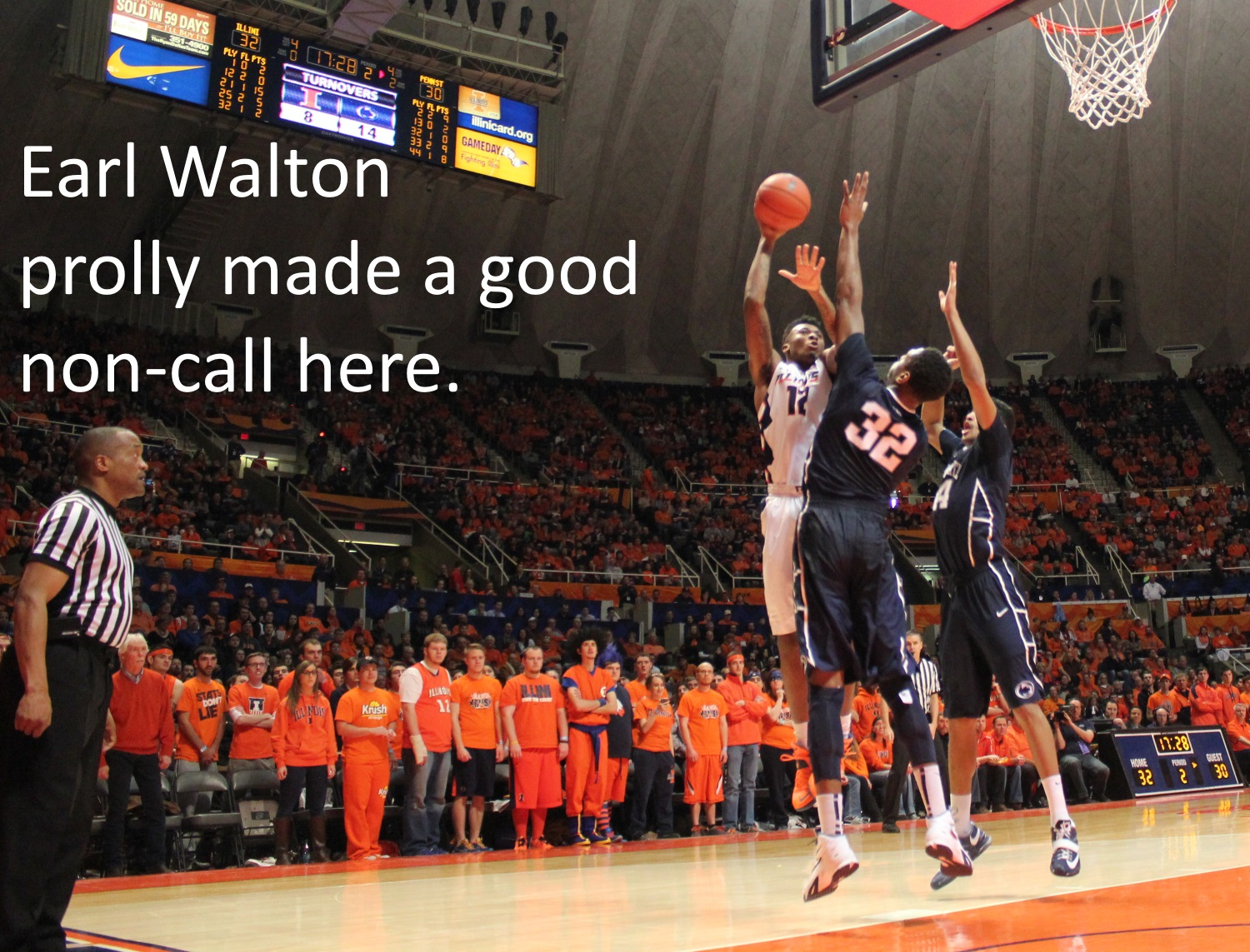 Earl Walton made a good non call