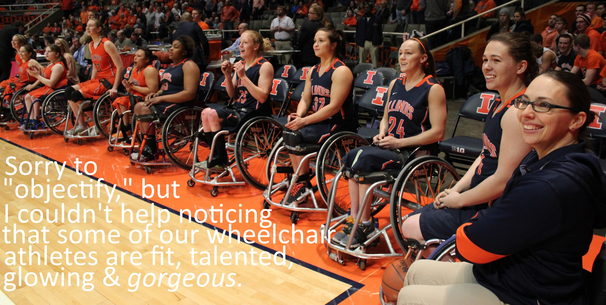 Illini women wheelchair basketball gorgeous