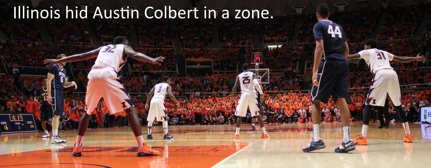 Illinois hid Austin Colbert in a zone
