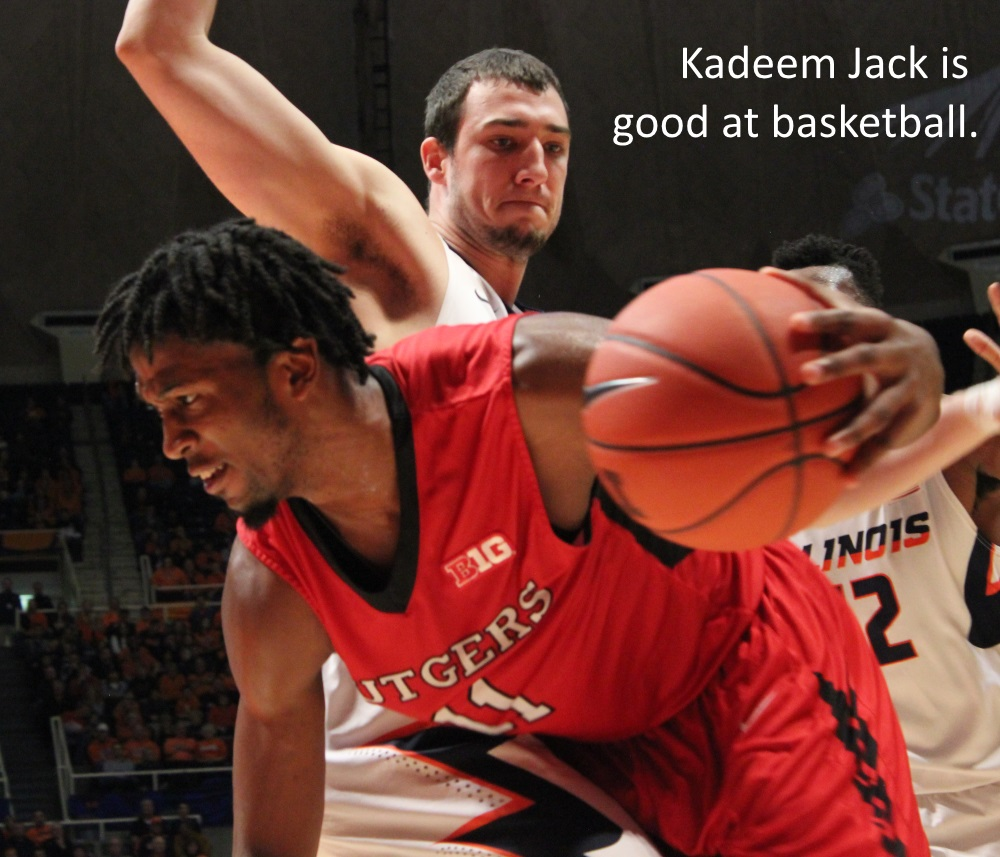 Kadeem Jack is good at baketball