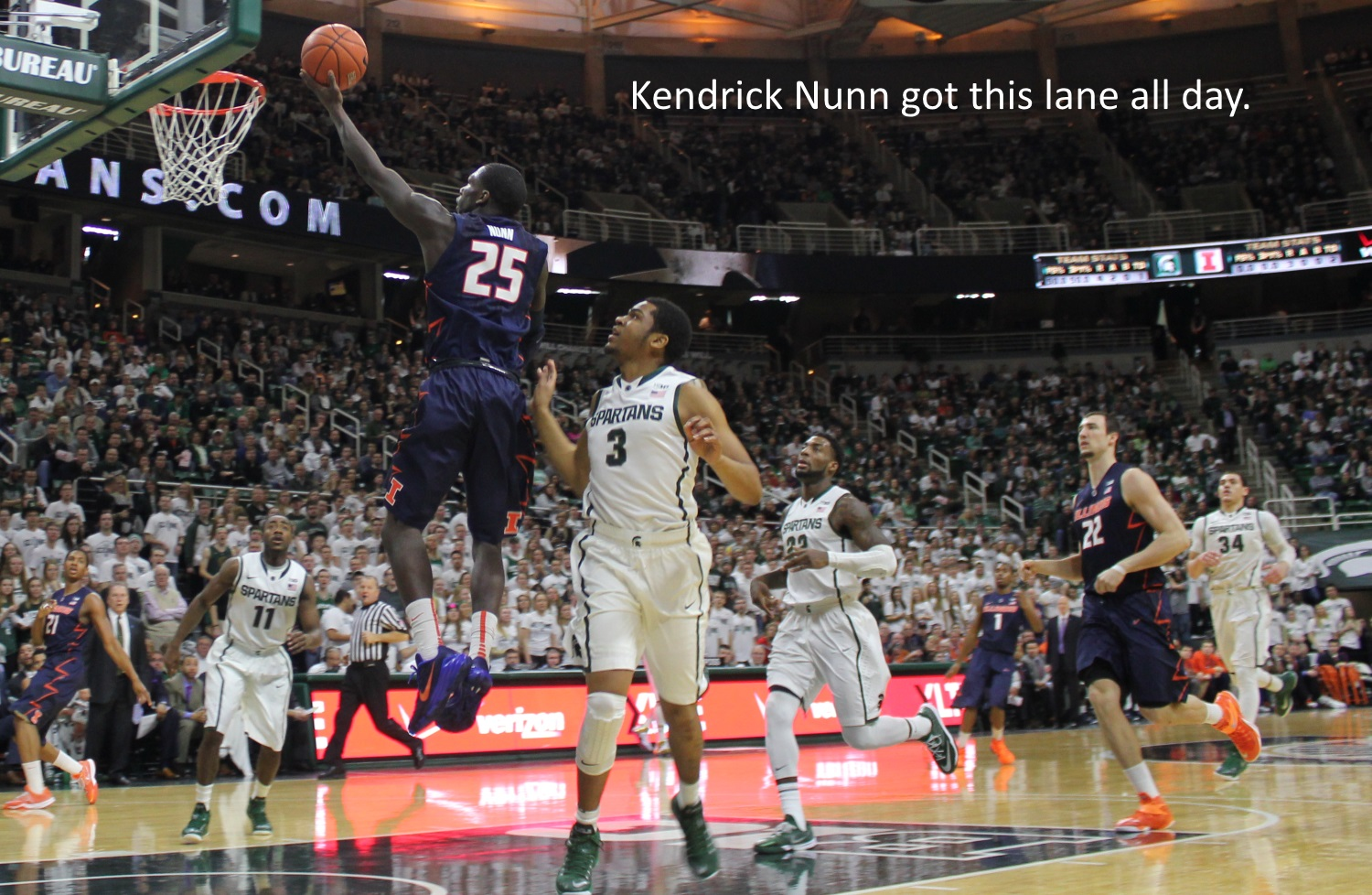 Kendrick Nunn got this lane all day