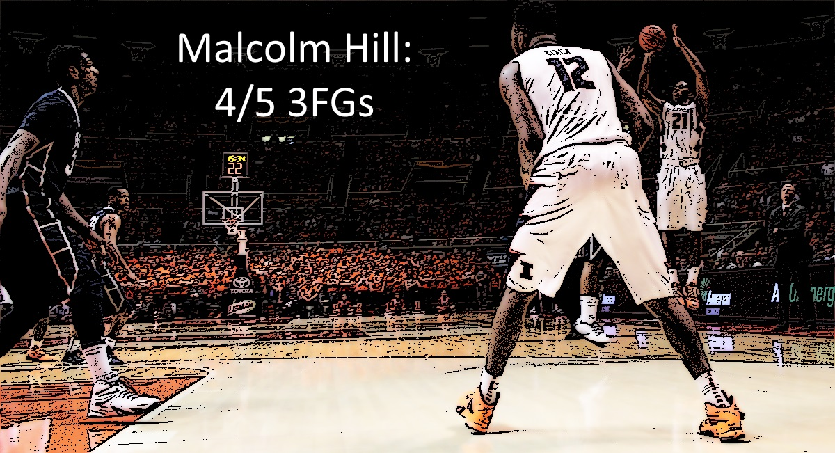 Malcolm Hill 4 of 5 3FGs