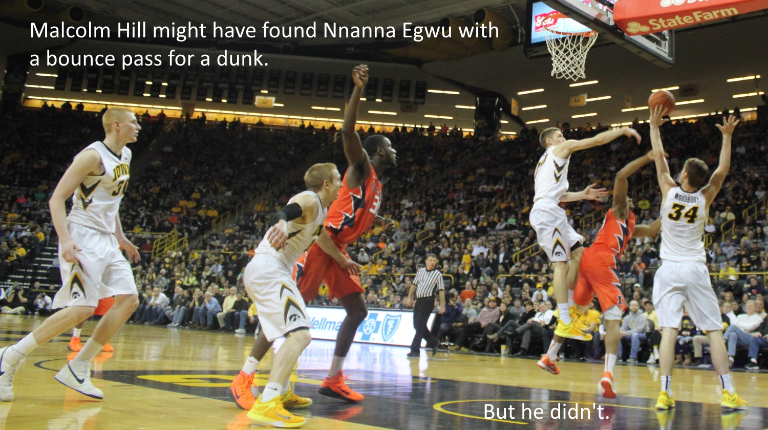 Malcolm Hill might have bounce pass to Nnanna Egwu