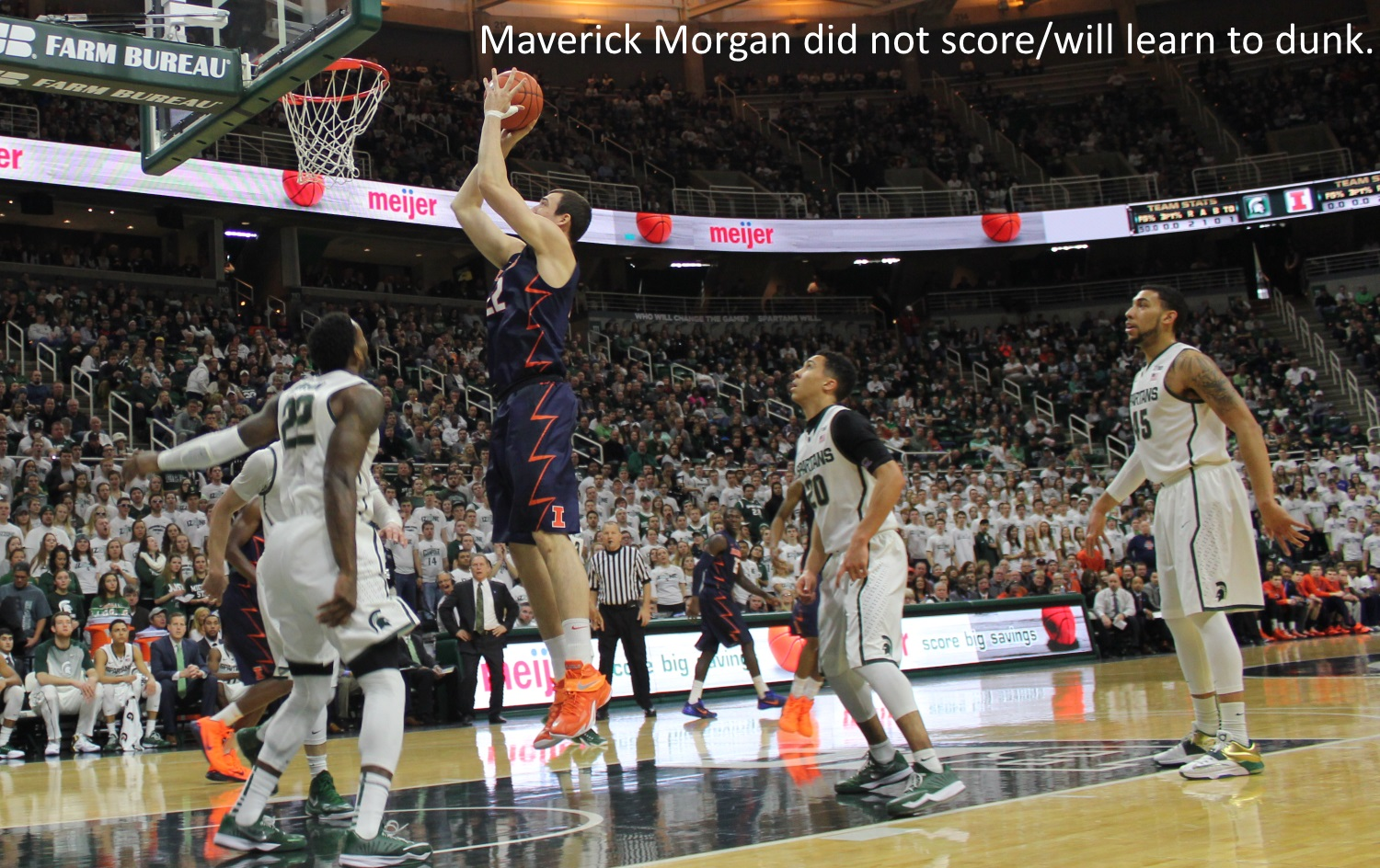 Maverick Mmorgan will learn to dunk