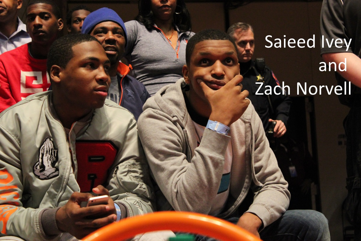 Saieed Ivey and Zach Norvell