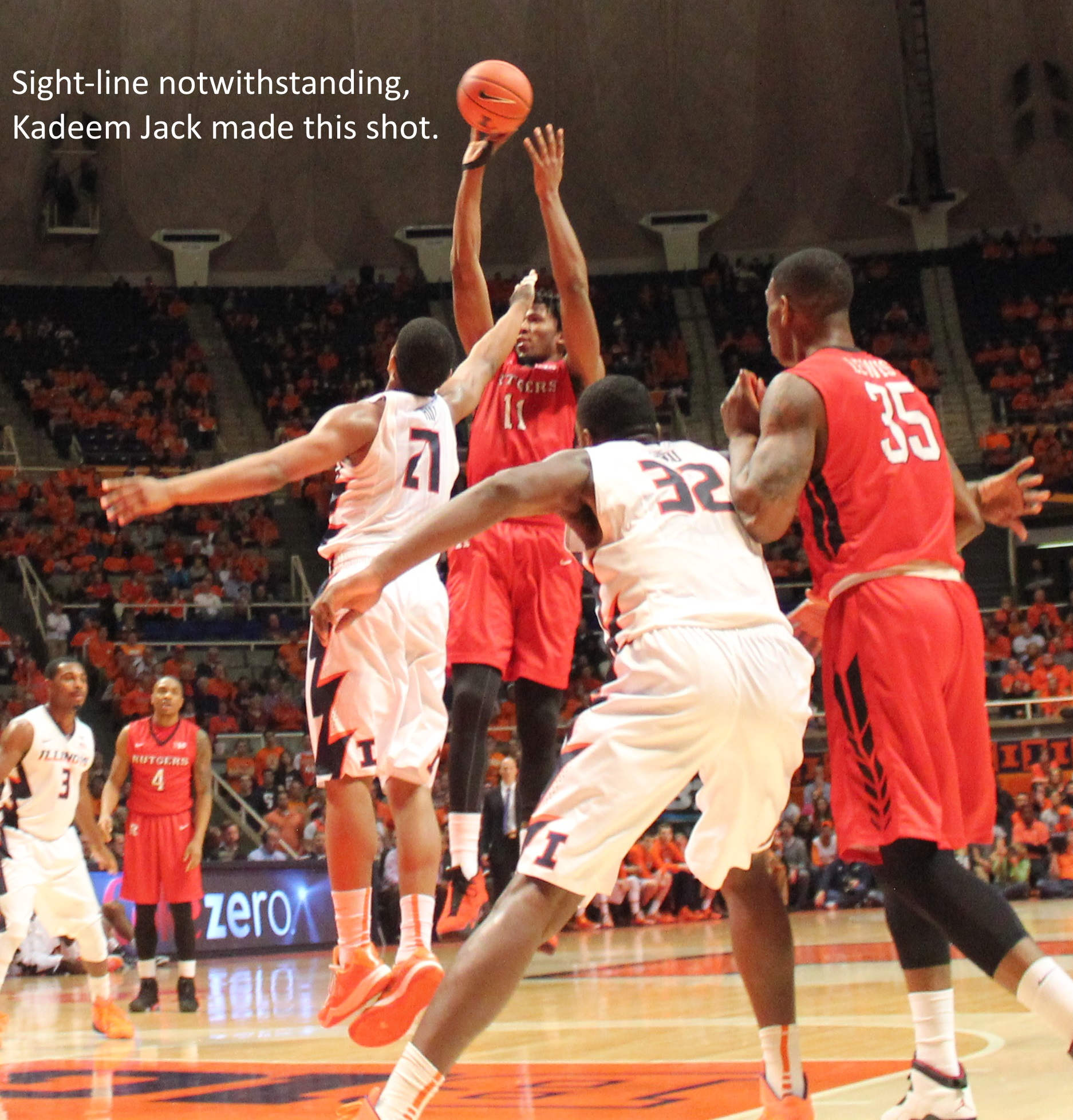 sight line notwithstanding kadeem jack made this shot