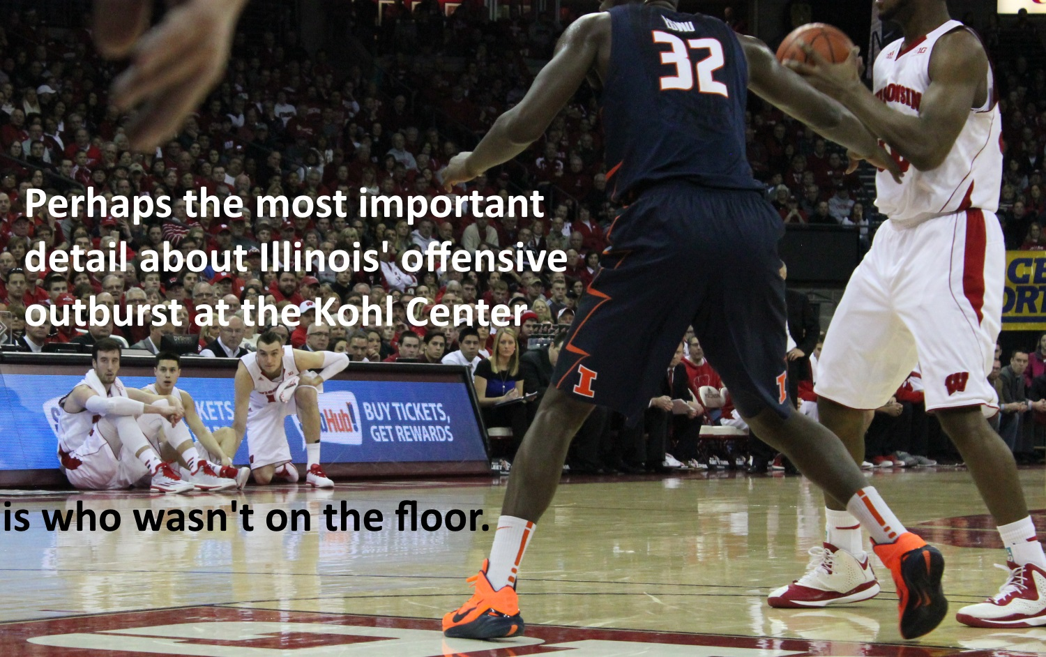 who was not on the floor for Illinois outburst at Kohl