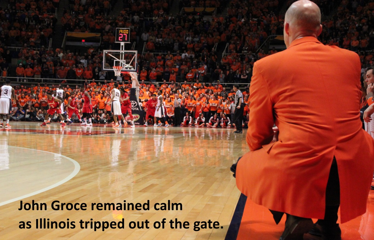 John Groce remained calm