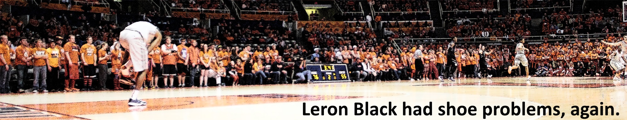 Leron Black shoe problems