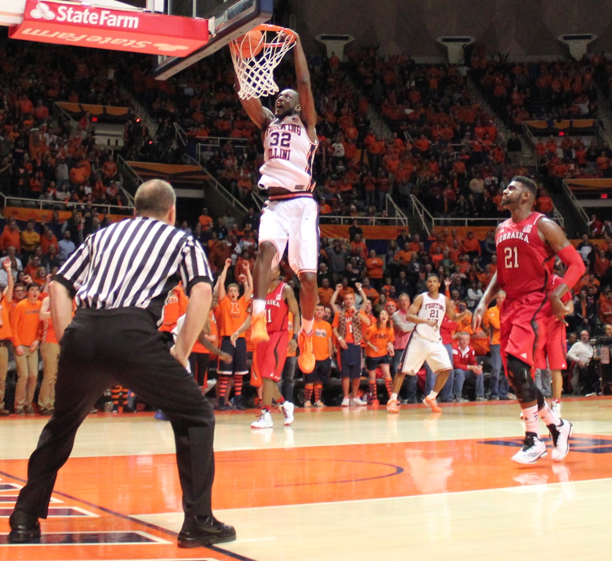 Nnanna Egwu capped his senior night with a slam dunk