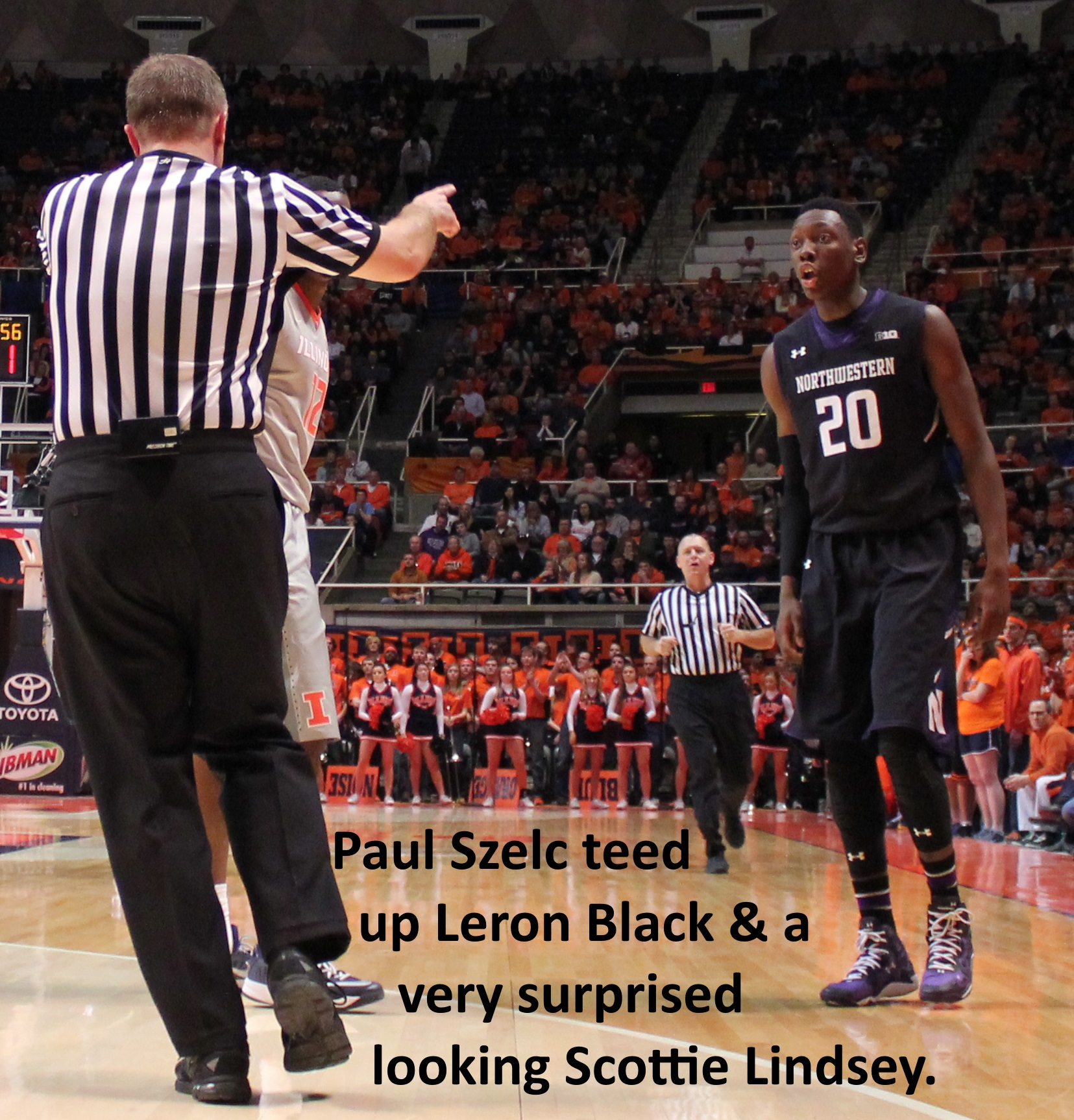 Paul Szelc teed up Leron Black and Scottie Lindsey