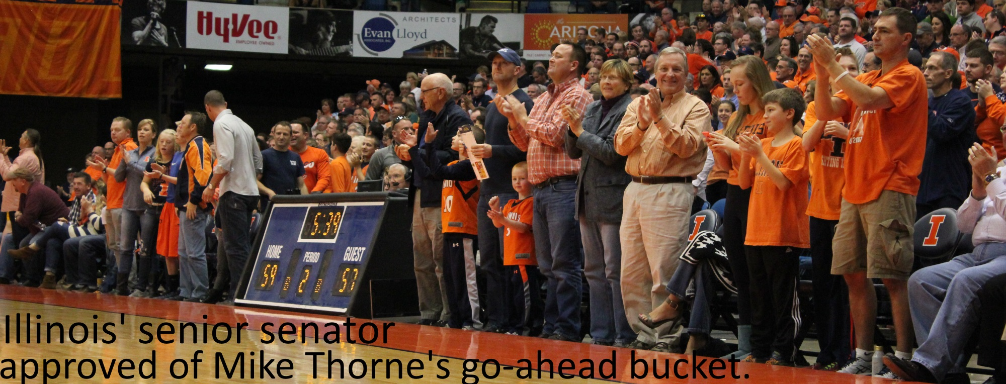Dick Durbin applauds Illini