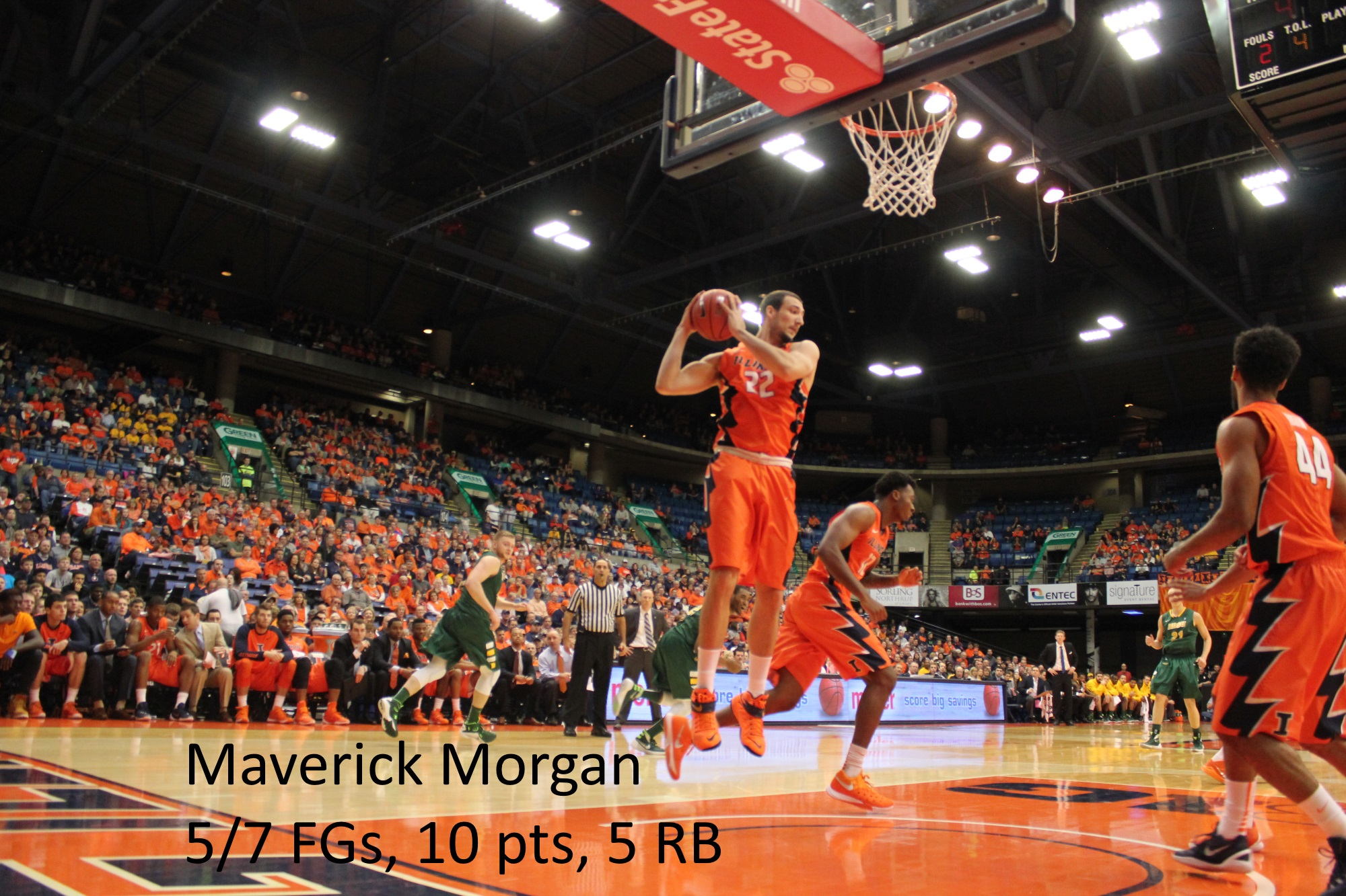 Maverick Morgan stat line