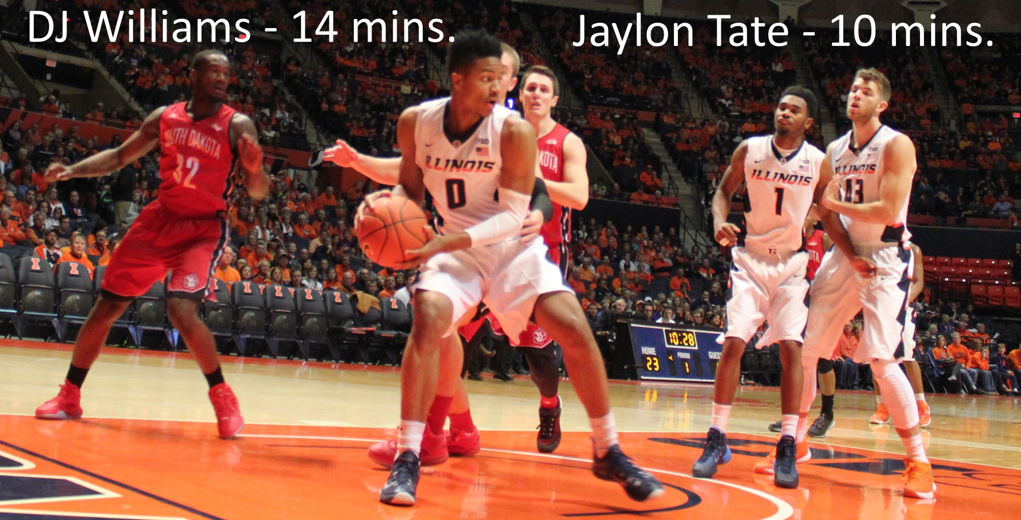 DJ Williams 14 mins, Jaylon Tate 10 mins