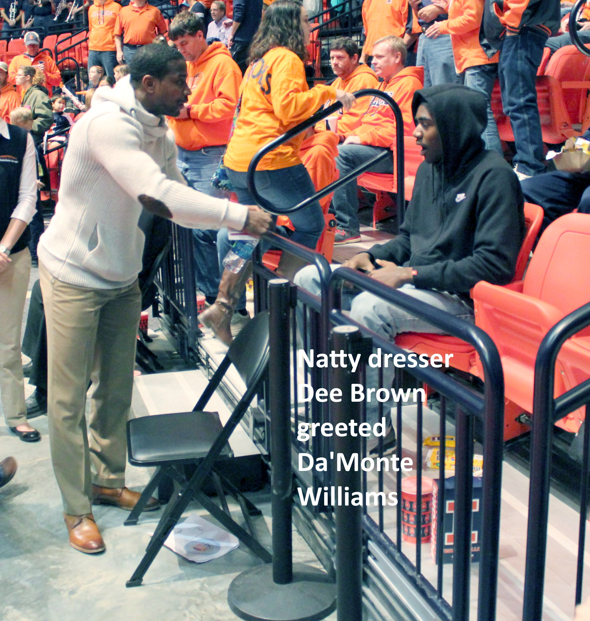 Dee Brown greeted Da'Monte Williams