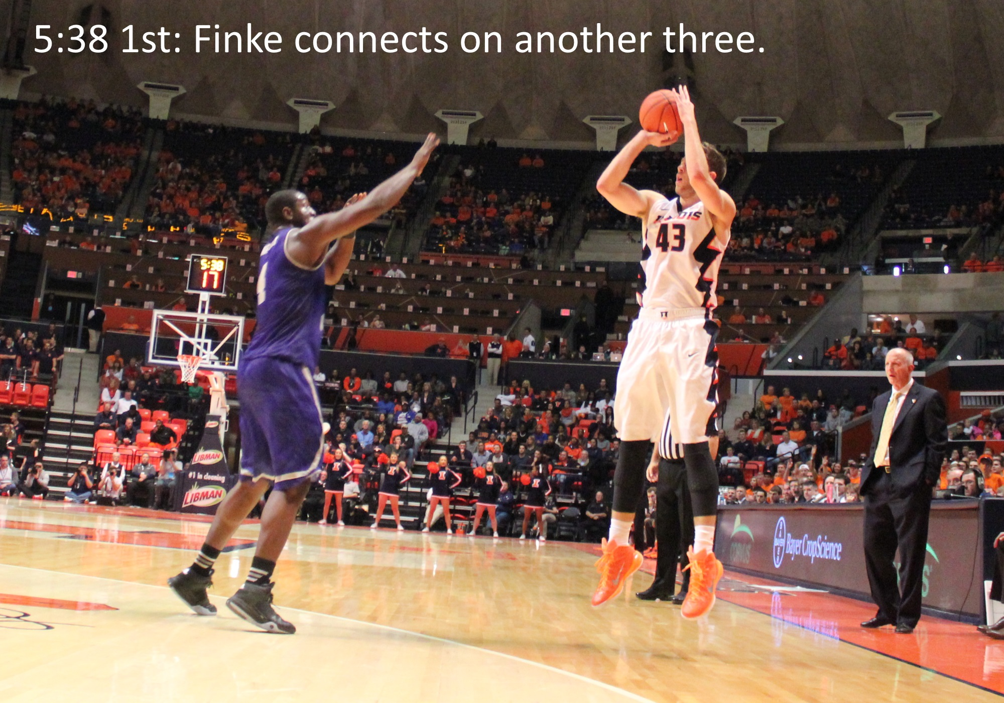 Finke connects on another three